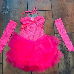 Fabulous pink romper with tutu